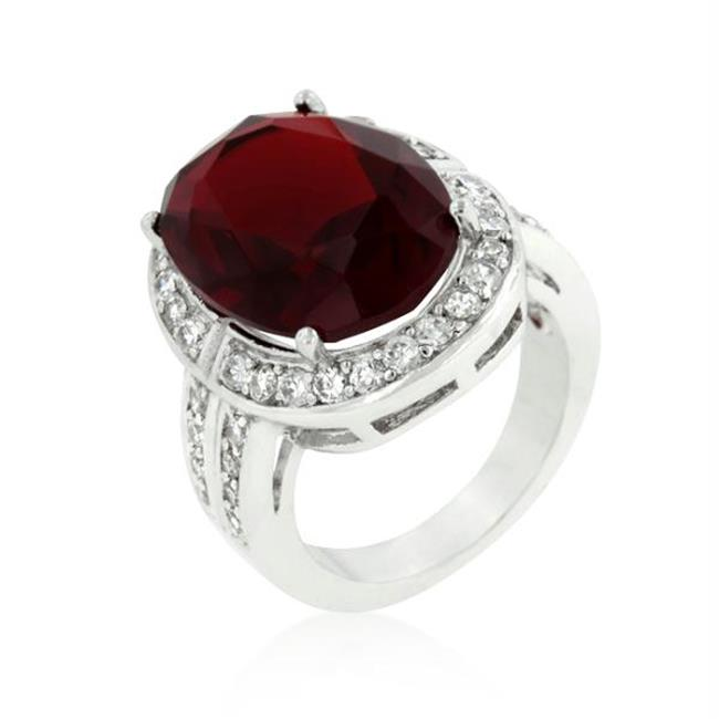 Ruby Red Cocktail Ring, <b>Size :</b> 08