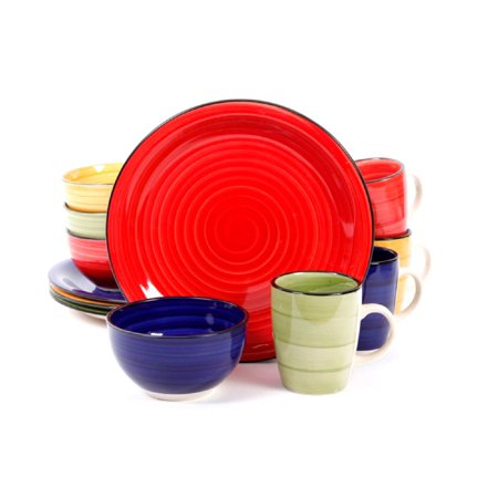 Gibson Color Vibes Dinnerware Set, 12 (Gibson Canada)