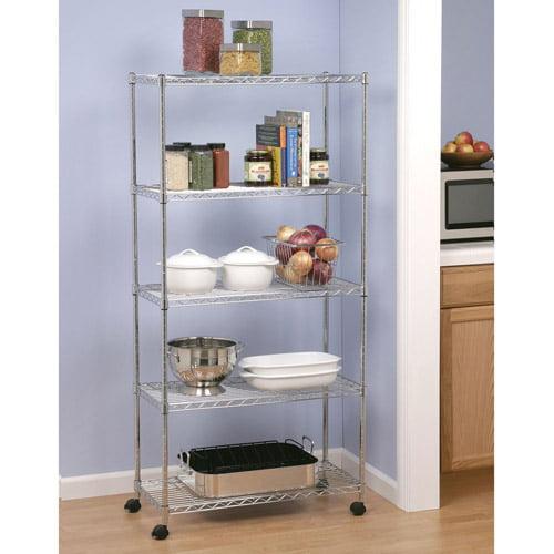 Seville Classics Home-Style 5-Shelf UltraZinc Steel Wire Shelving System