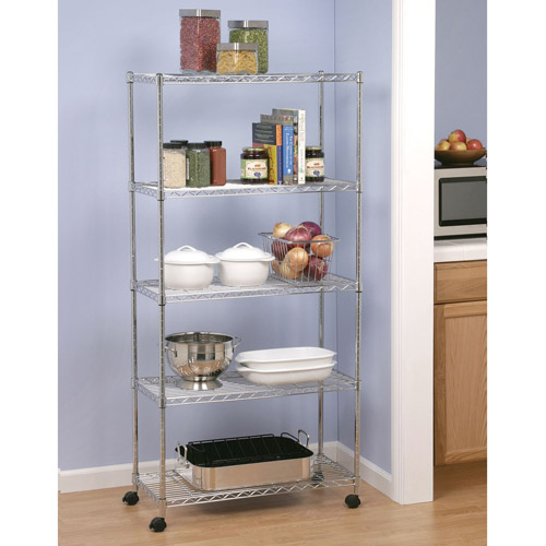 Seville Classics Home-Style 5-Shelf UltraZinc Steel Wire Shelving System