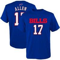 Josh Allen Buffalo Bills Youth Mainliner Player Name & Number T-Shirt - Royal