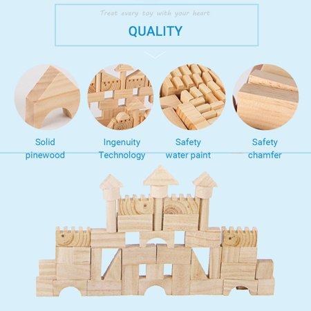 162 Pcs Building Blocks Pine Wood Kids Children Educational Assembled Cars DIY - image 3 de 12