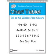 WHITE CHART TABLET 32X24 1IN RULED 25 SHT