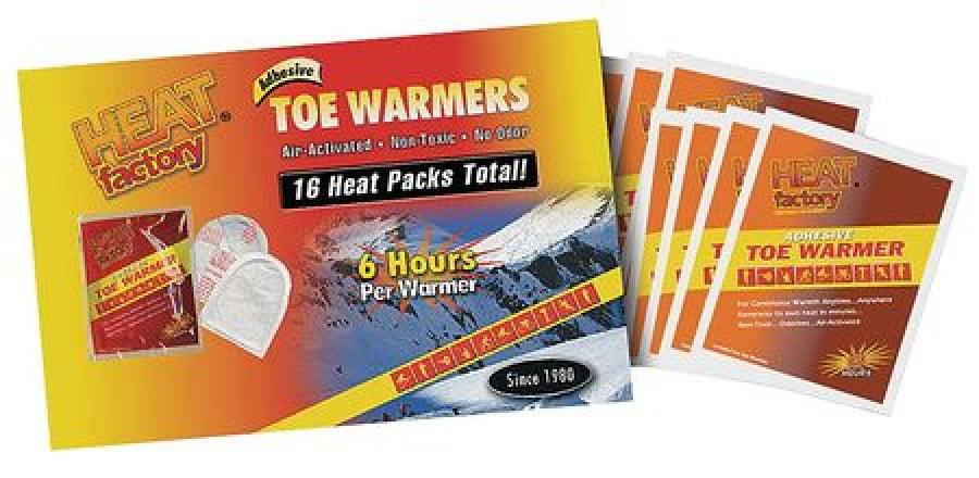 HEAT FACTORY 1964-3 Toe Warmers,White,PR,PK8