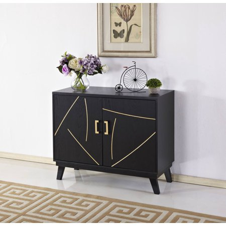 Home Source Wall Mid Century Modern Two Door Accent Chest ()