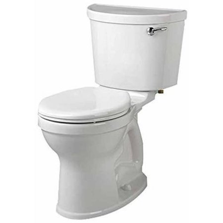 """American Standard 211CA.105.020 Champion Pro Two-Piece 1.28 GPF Elongated Toilet with 12"""" Rough-In and Right Hand Trip Lever, White"""