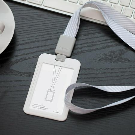 COMIX A7933 Vertical Style Porte-Badge Carte avec Rétractable Lanyard Neck Strap Bande Élégant Gris - image 4 de 6