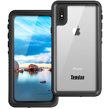 detailed look 31c51 eecb2 (Upgraded) iPhone X Waterproof Case, Temdan IP68 Waterproof Full-body  Protect Rugged Case with Built-in Screen Protector Underwater Case for  Apple ...