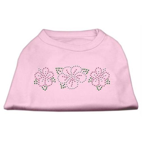 Tropical Flower Rhinestone Shirts Light Pink XXL (18)