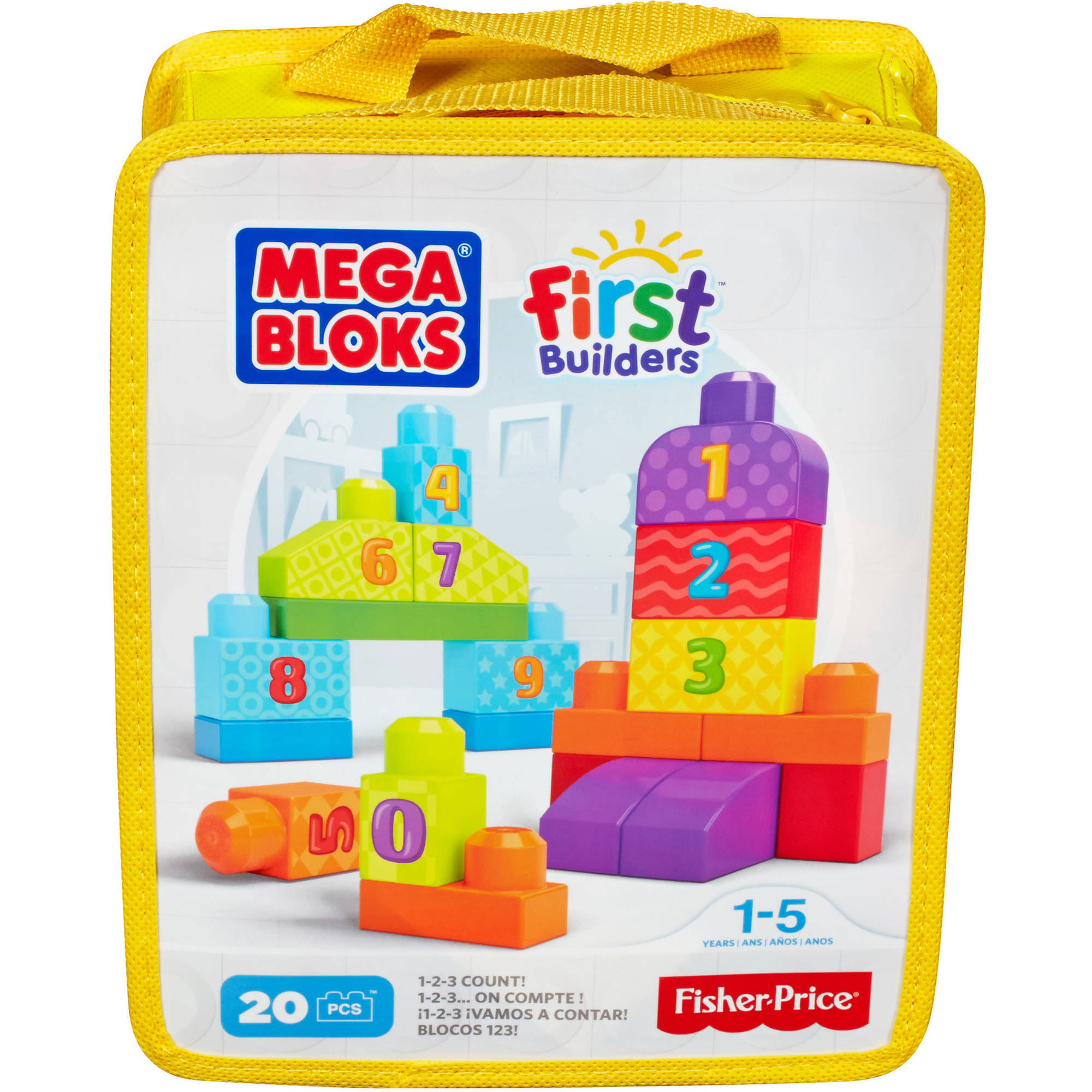 Mega Bloks First Builders 123 Count Playset