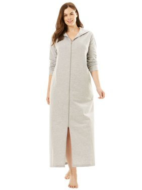 Product Image Dreams   Co. Plus Size Long Zip-front Robe ccbf5241d