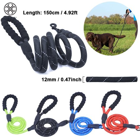 Luxtrada 4.92ft Long Braided Rope Dog Leash for Medium and Large Dogs