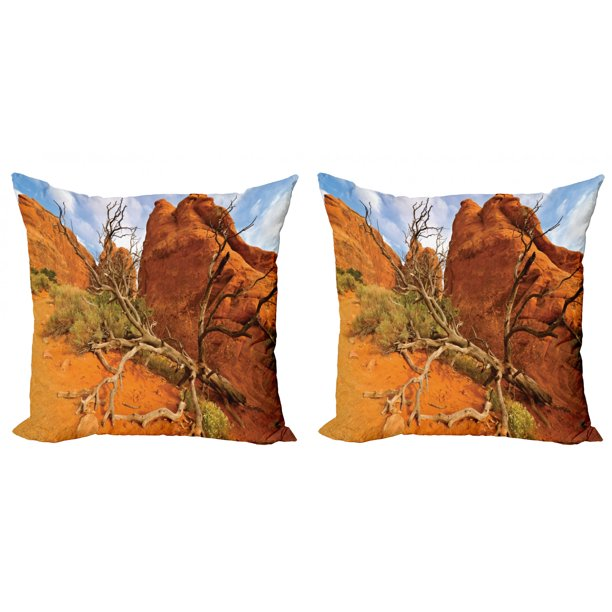 National Parks Throw Pillow Cushion Cover Pack Of 2 Rock On The Grand Canyon Monument Valley