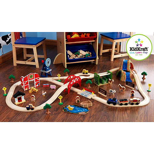 KidKraft Farm 75-Piece Train Set