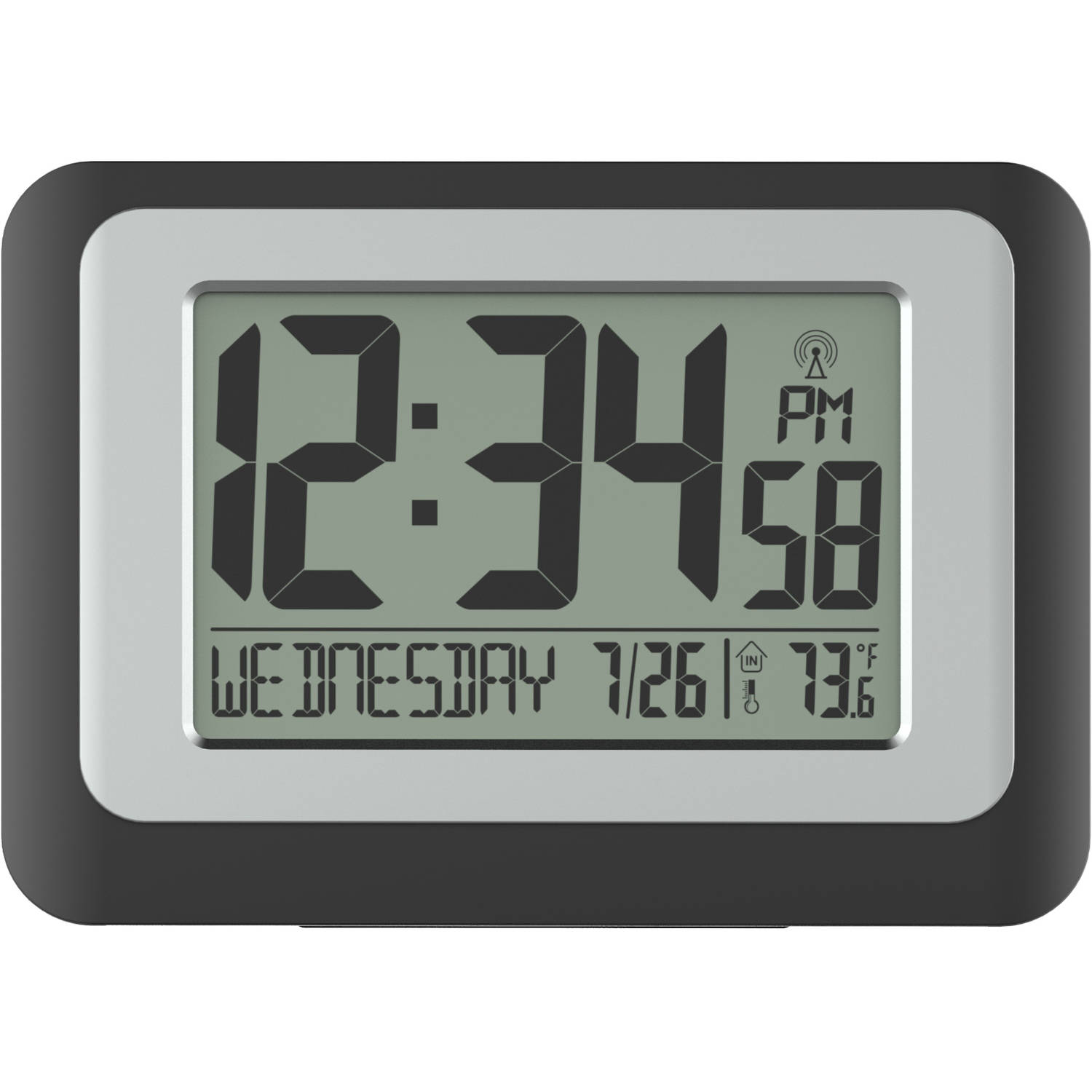 better homes and gardens digital clock with indoor temperature walmartcom - Better Homes And Gardens Digital