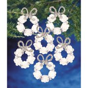 The Beadery Frosted Wreath Beaded Ornament Kit