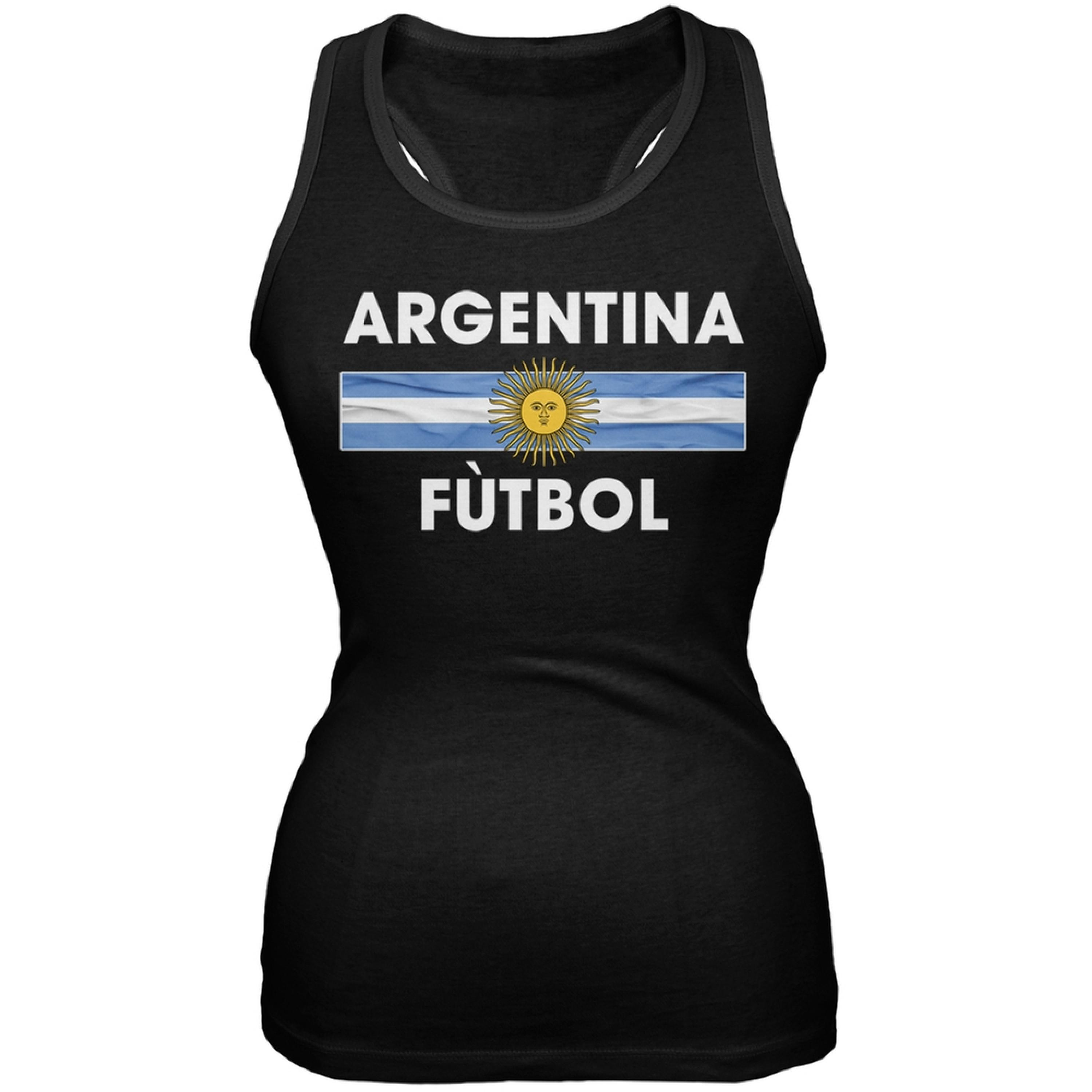 World Cup Argentina Crest Black Soccer Juniors Tank Top