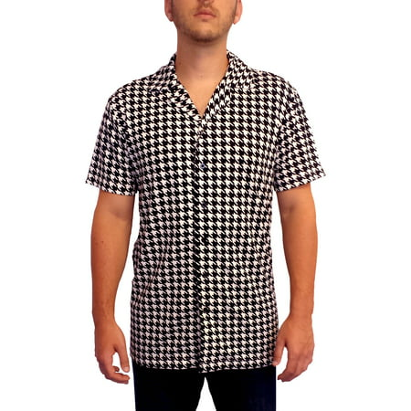 Ricky's Houndstooth Shirt Button Down Ricky Richard Rick TV Show Costume Gift](Rick Flair Costume)