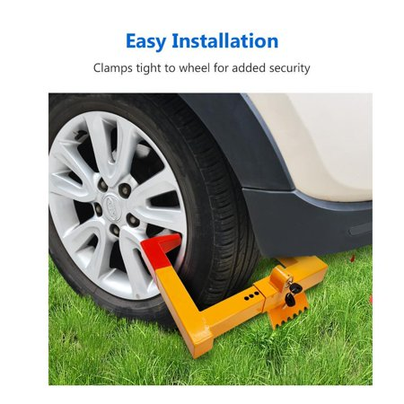 Heavy-Duty Wheel Chock Lock ,Clamp Boot Tire Claw Trailer Auto Car Truck Anti-Theft Towing Upgraded  DADEA