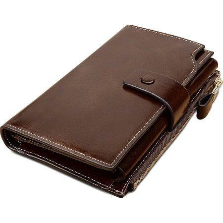 54df072c787c BRAND - Obosoyo Women's Large Capacity Luxury Wax Genuine Leather ...