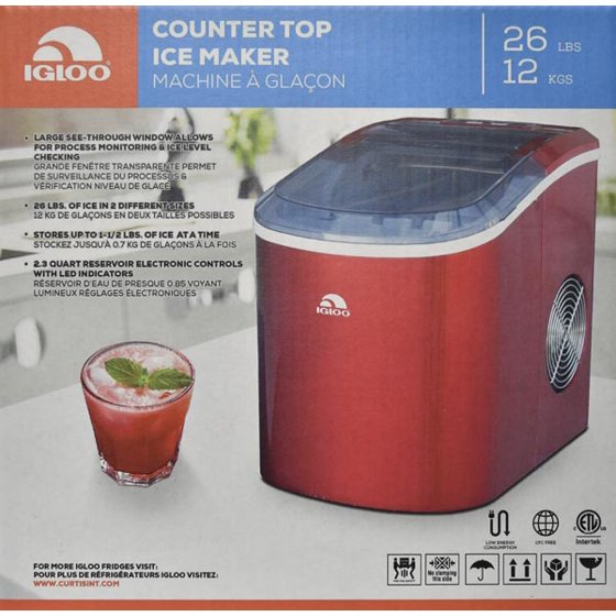 Igloo Compact Portable Ice Maker - ICE108 - Red on