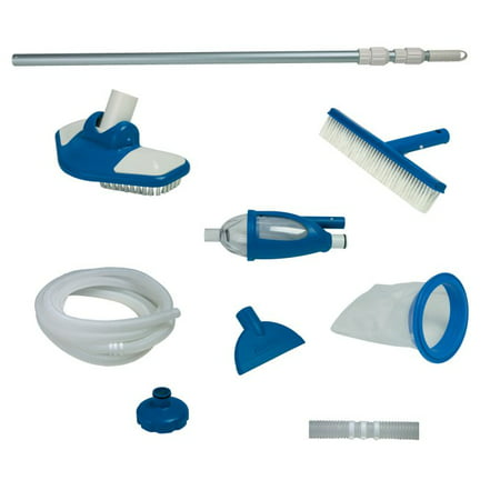 Intex Deluxe Cleaning Maintenance Swimming Pool Kit with Vacuum & Pole | 28003E (Deluxe Test Lead Kit)