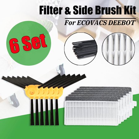 6Pcs N79 N79s Side Brush & Filter Kit New For DEEBOT Vacuum  - image 7 de 12
