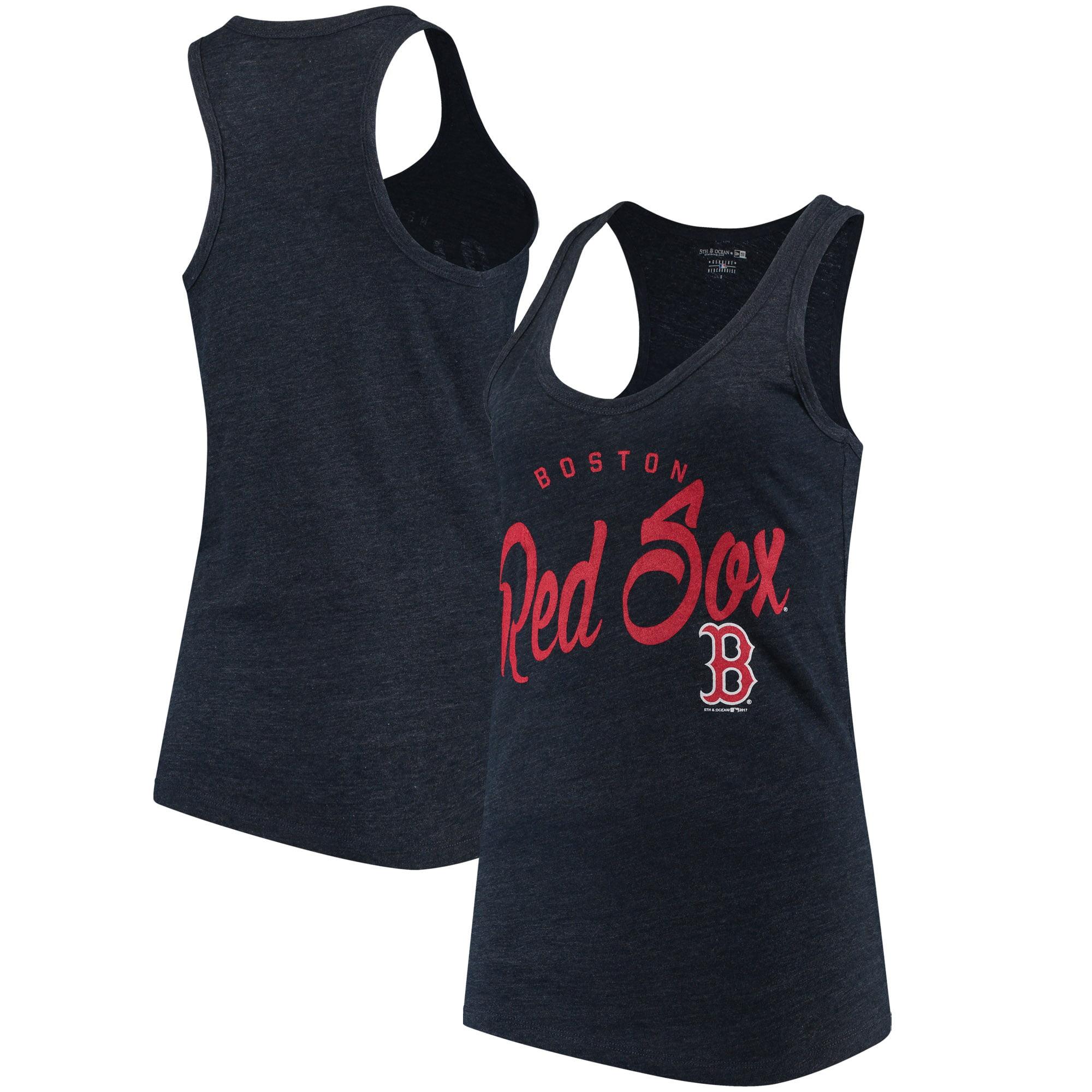 Boston Red Sox 5th & Ocean by New Era Women's Tri-Blend Racerback Tank Top - Navy
