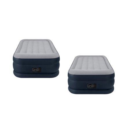 2 Pack Intex Deluxe Twin Pillow Rest Raised Air Mattresses   Pumps   2 X 67731E