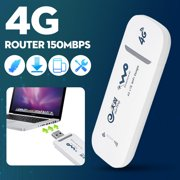 4G LTE Mobile WiFi Router Hotspot Wireless USB Dongle Mobile Broadband Modem For Car Home Mobile Travel Camping, 150Mbps Modem B1/B3 Support SIM Card  (Without SIM Card)