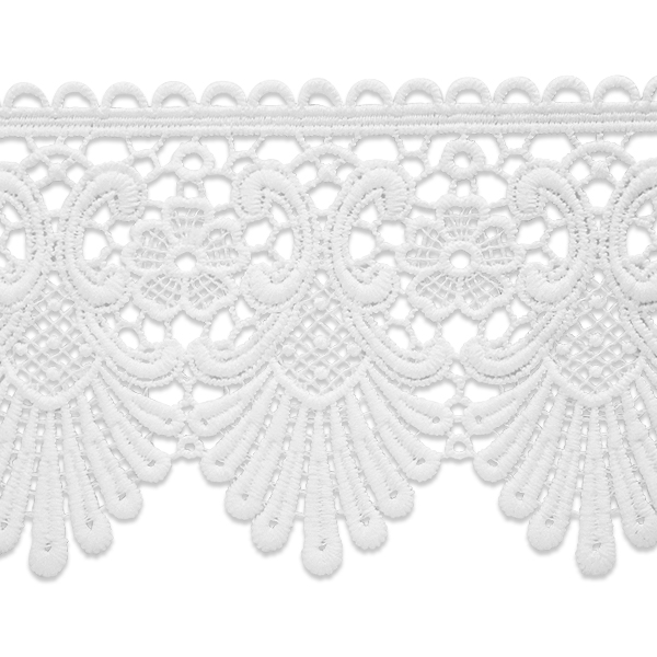 Expo Int'l 5 yards of Swirl & Flower Lace Trim