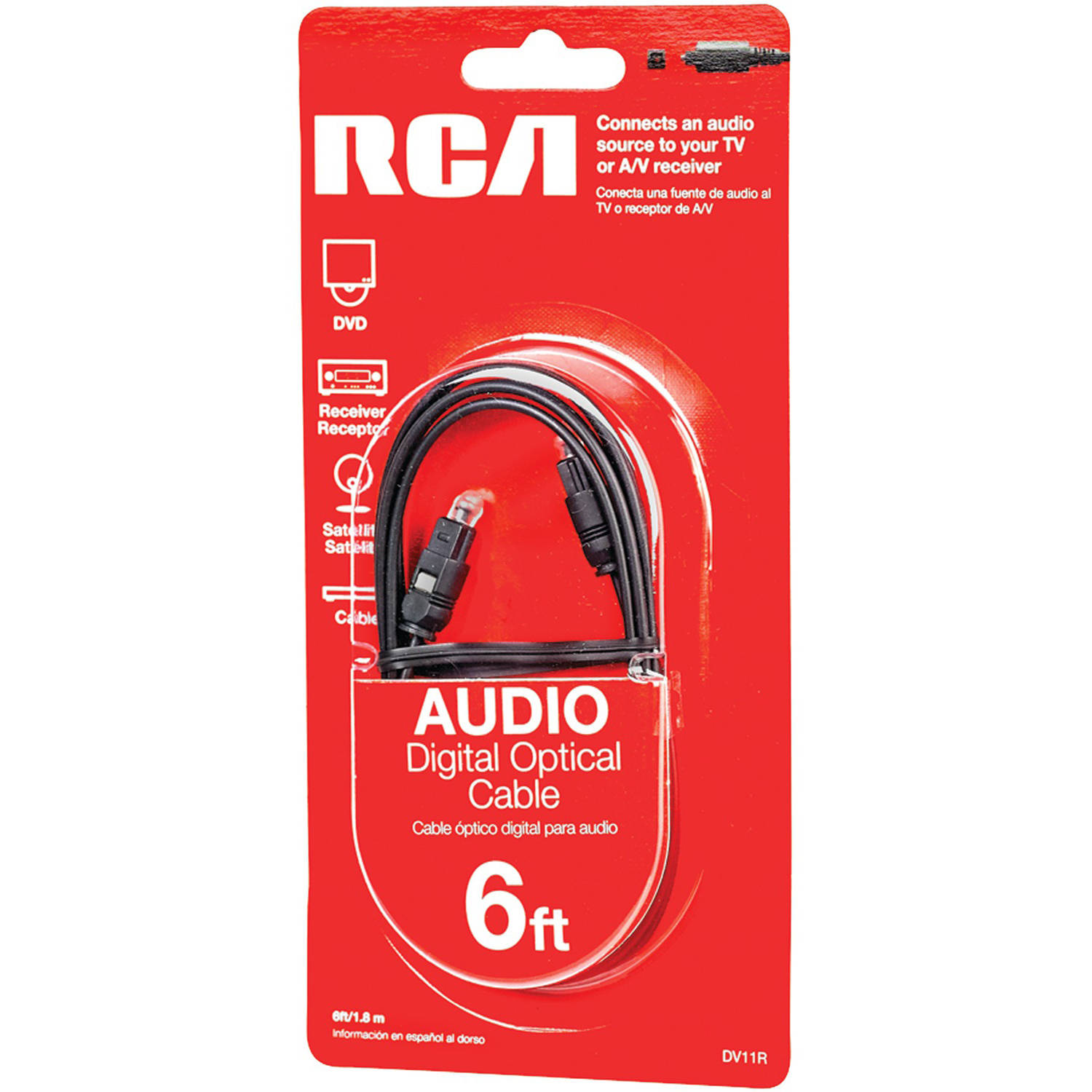 RCA Dv11r Digital Optical Cable, 6'