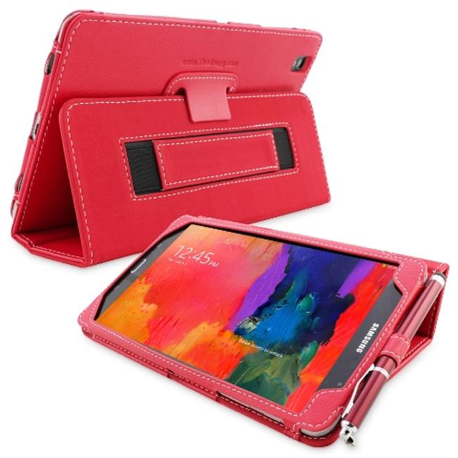 Snugg B00KTHSLFK Galaxy Tab PRO 8. 4 Case Cover and Flip Stand, Red Leather
