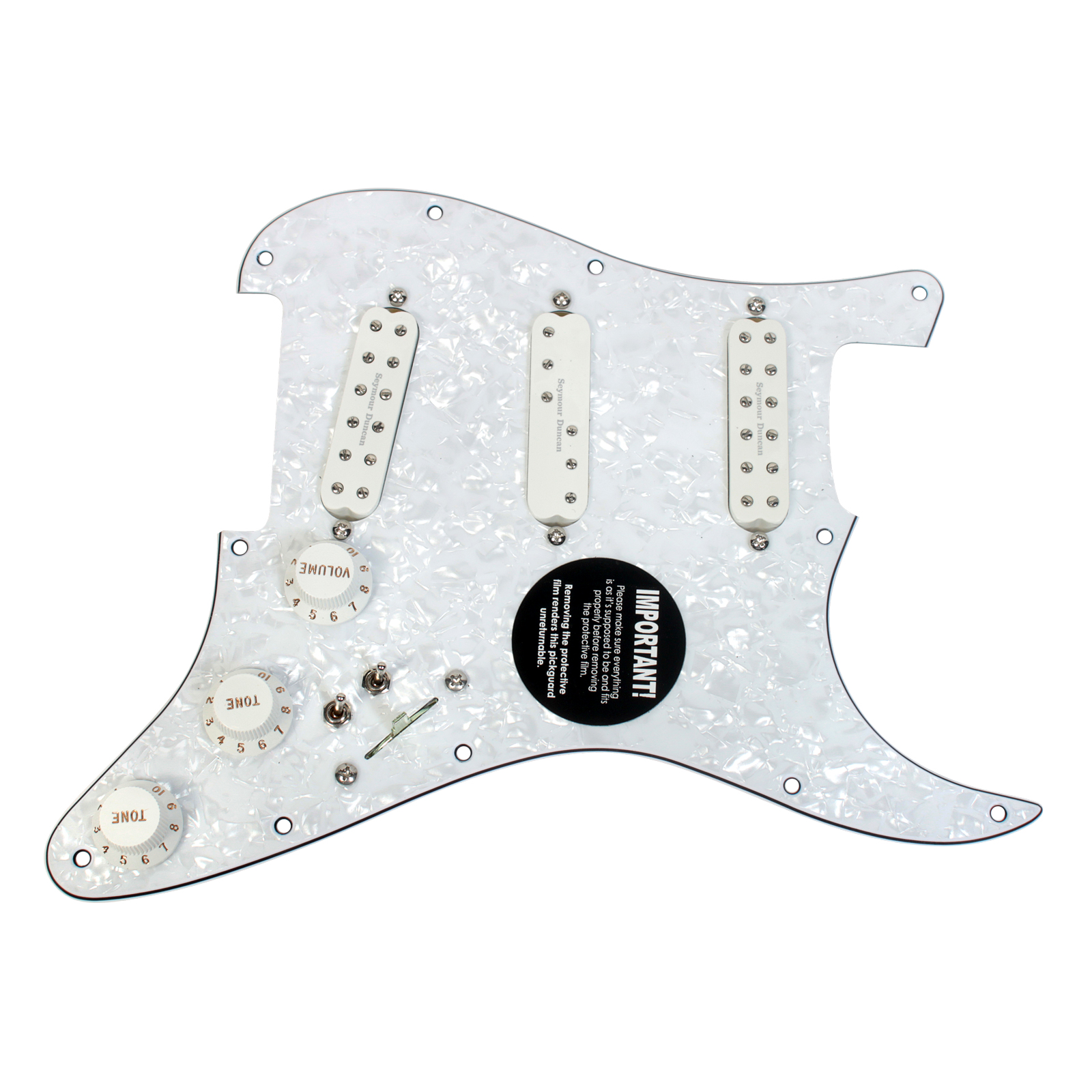 Duncan SJBJ / SDBR / SL59 Loaded Pickguard Everything Axe W/ 2 Toggles WP/WH