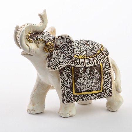 1 Ivory with Sepia accents elephants - medium size