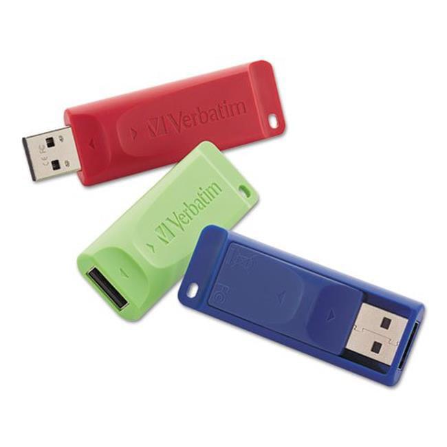 Verbatim 99122 16GB Store n Go USB Flash Drive, Assorted Color