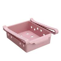 Plastic Kitchen Refrigerator Food Storage Box Shelves Bins Rack Fridge Freezer Shelf Holder Sliding Drawer Organiser Space Saver Blue/Beibe/Pink/Green