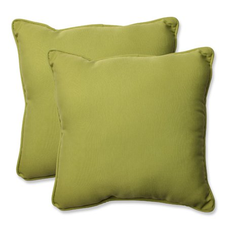 Perfect Pear (Pillow Perfect Outdoor/ Indoor Fresco Pear 18.5-inch Throw Pillow (Set of)