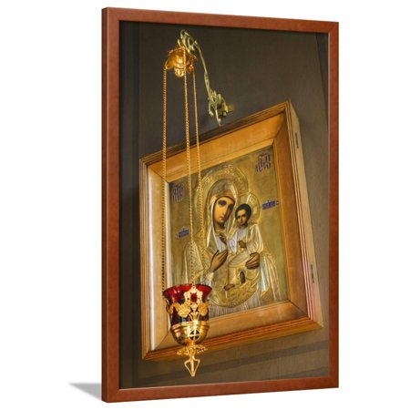 Uspensky Cathedral (Icon Portrait in the Uspensky Cathedral Framed Print Wall Art By Jon)