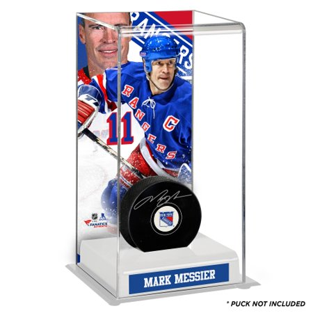low priced 7309b 00437 Mark Messier New York Rangers Fanatics Authentic Deluxe Tall Hockey Puck  Case - No Size