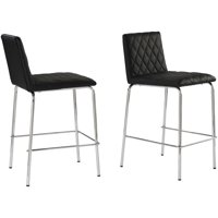 Deals on Better Homes & Gardens Etta Quilted Counter Stools Set of 2