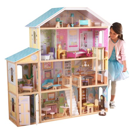 KidKraft Majestic Mansion Dollhouse with 34 accessories included Dollhouse Womens Rock