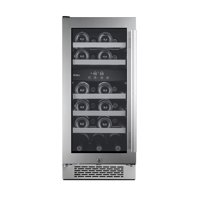 """Avallon AWC151DZLH Stainless Steel 15"""" Wide 23 Bottle Capacity Dual Zone Wine Cooler"""