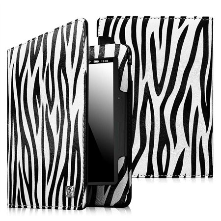 Fintie Folio Case for Amazon Kindle Voyage 2014 - PU Leather Book Style Case Cover with Auto Sleep/Wake, Zebra