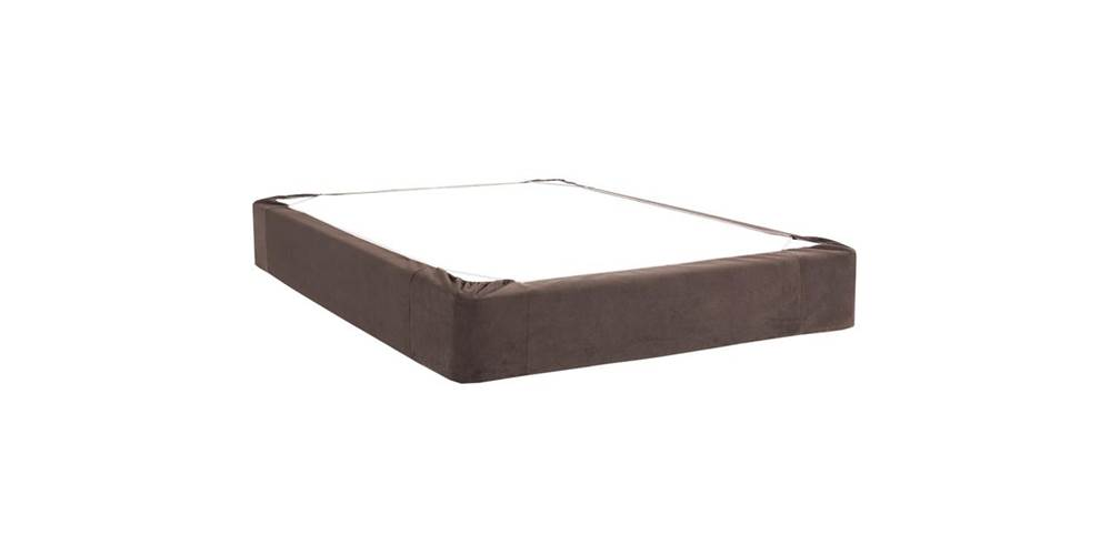 Box Spring Cover in Chocolate (Twin: 75 in. L x 38 in. W x 13.5 in. H (5 lbs.)) by Howard Elliott Collection