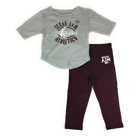 Gen 2 Baby Girl  39 S Texas A M Aggies Football Sweetheart Shirt Pant Set