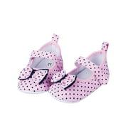 Wassery Baby Girls Bowknot Dot Crib Shoes Princess Soft Sole Crib Shoes Footwear 0-12M
