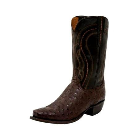 Lucchese Western Boots Mens Quill Ostrich Round Toe Sienna M1607.R4