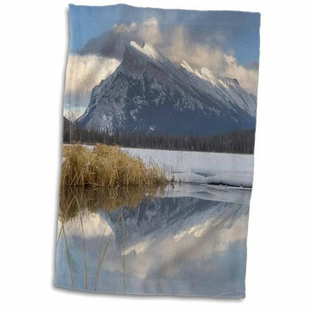 3dRose Mount Rundle, Vermillion Lake, Banff NP, Alberta-CN01 PCL0013 - Paul Colangelo - Towel, 15 by 22-inch - Paul Frank Towel