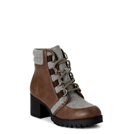 Scoop Women's Sadie Heeled Hiker Boots